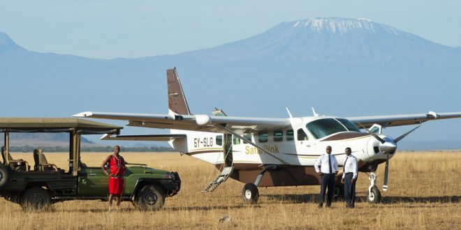 Tanzania flying in Safari